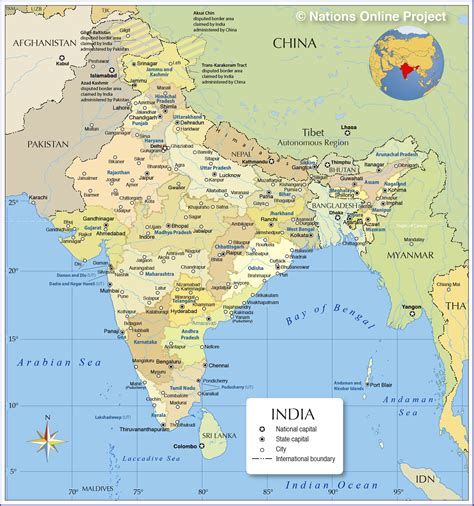 map  india nations  project
