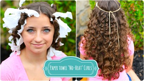 how to create quot no heat quot paper towel curls cute girls