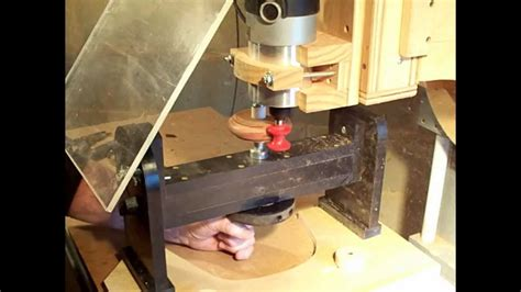 making  simple wood bracelet  router milling machine