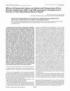 (PDF) Effects of Lipoprotein Lipase on Uptake and ...