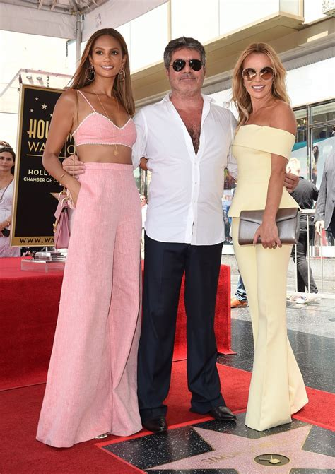 Amanda Holden Simon Cowell Honored With Star The