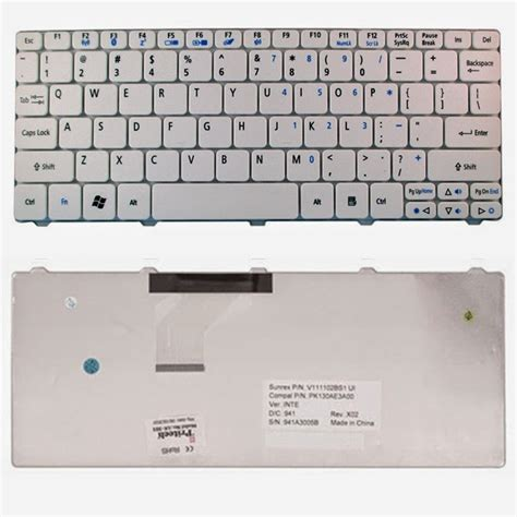 Harga Keyboard Laptop Merk Dell keyboard acer aspire one happy d255 d257 d260 d270 521 532