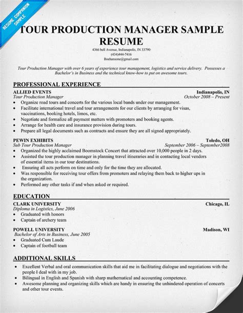 images  production supervisor resume template