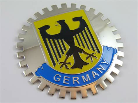 Grille Badge German Germany For Car Truck Grill Mount