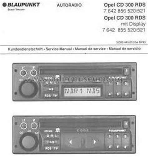opel cd 300 rds 7 642 856 520 521 car radio blaupunkt ideal