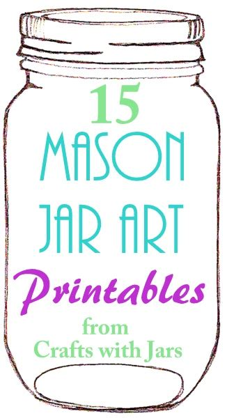 crafts  jars printable mason jar art