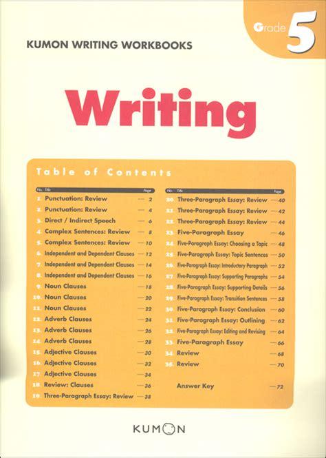 kumon writing workbook grade 5 028809 details rainbow