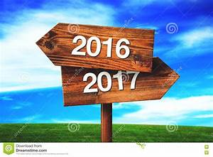 2016 And 2017 Crossroads Direction Signs Stock Image ...