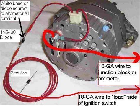 Single Wire Alternator Wiring Engine Swaps Forum
