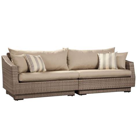 home depot sofa rst brands cannes 2 piece patio sofa with slate grey