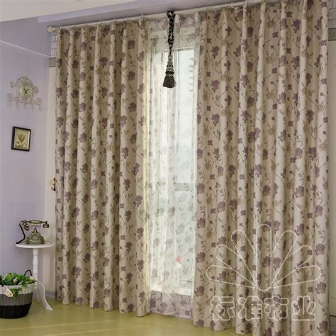 classical garden style green curtains sided