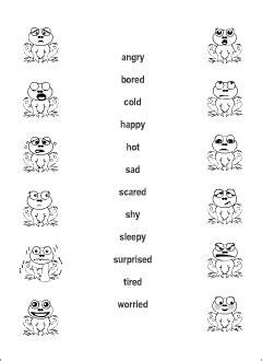 feelings vocabulary  kids learning english matching game