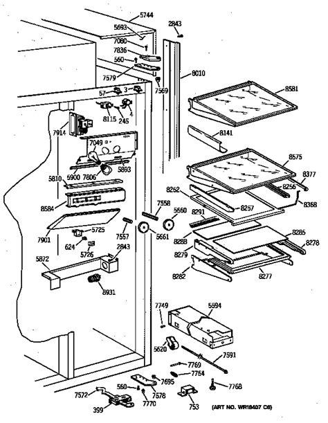 ge zisnyb side  side refrigerator parts sears