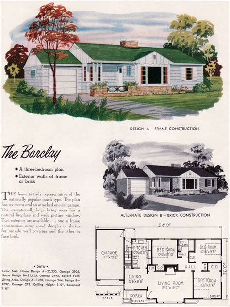 mid century modern house plans  national plan service houses barclay traditiona mid