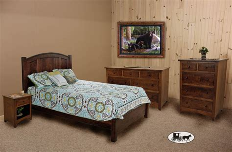 New Bedroom Sets by Amish Adirondack Real Wood Bedroom Sets New York