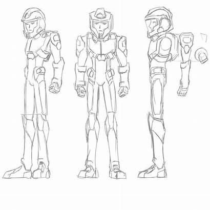 Suit Space Drawing Sketch Getdrawings