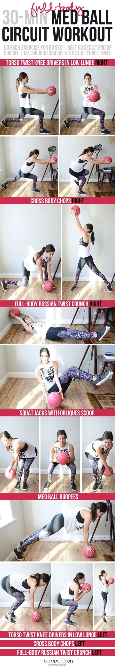 workout circuit body ball medicine minute dumbbell med workouts