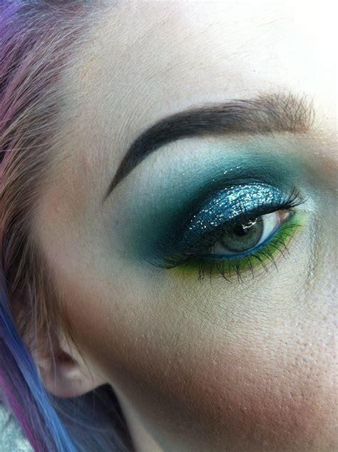 aqua marine goddess   create  green eye makeup  beauty  cut