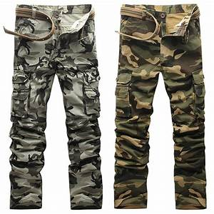 Casual Cargo Pants For Men Military Camo Camouflage Skinny ...