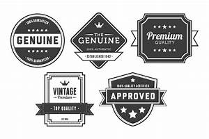 Vintage Badges Vector Pack 5   Design Panoply
