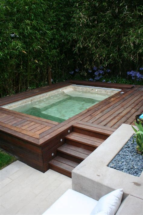 laminate countertops built in tub deck pool contemporary with