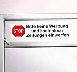 Briefkasten Keine Werbung : aufkleber keine werbung mit stop schild in rot briefkasten aufkleber ~ Orissabook.com Haus und Dekorationen
