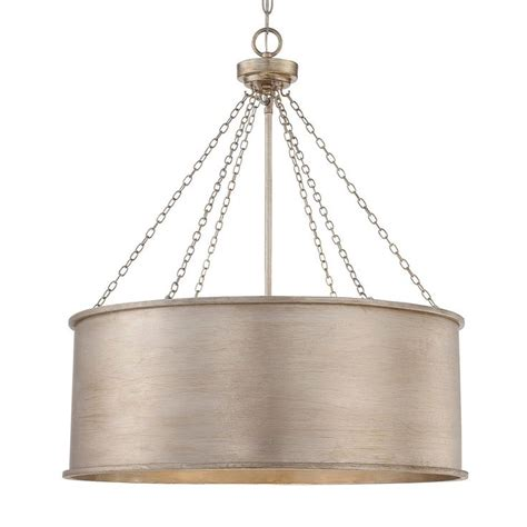 luxe patina metal drum shade pendant large metals
