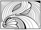 Abstract Coloring Pages Adult Adults Printable Getcoloringpages Advanced Mandala sketch template