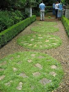 Pavers and Gravel Garden Path