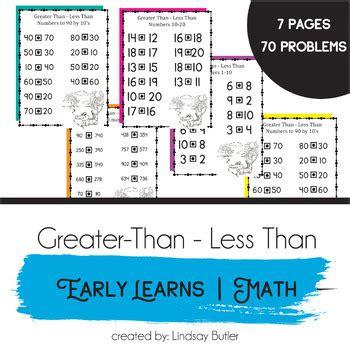 preschool kindergarten math greater