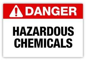 Hazardous Chemical Safety Sign