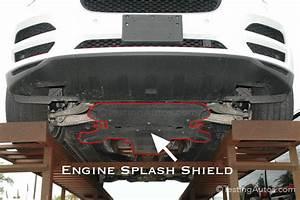 Broken  Missing Engine Splash Shield Or Fender Liner