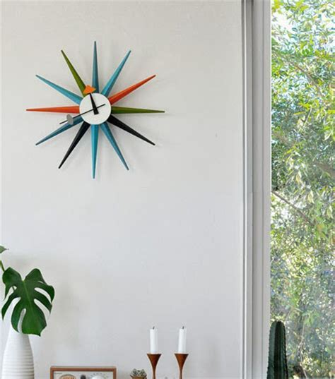 Sunburst Clock Multi Colour   NOVA68.com
