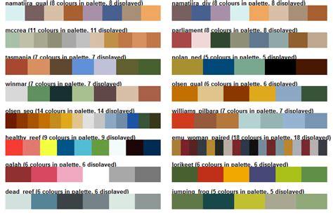 r colors ochre australia themed colour palettes r