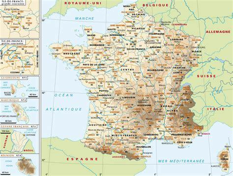 Carte Département Ville by Info Les Principales Villes De