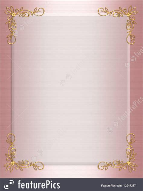 templates pink satin formal invitation border stock
