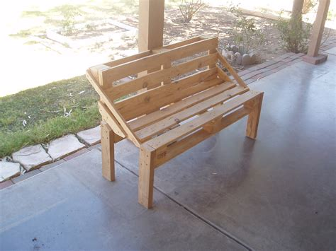 pallet bench project  steps  pictures