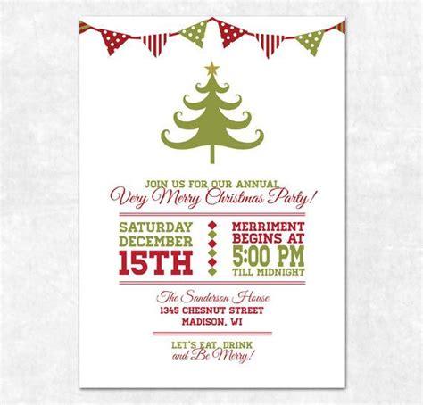 free printable christmas invitations template printable invitation bunting and