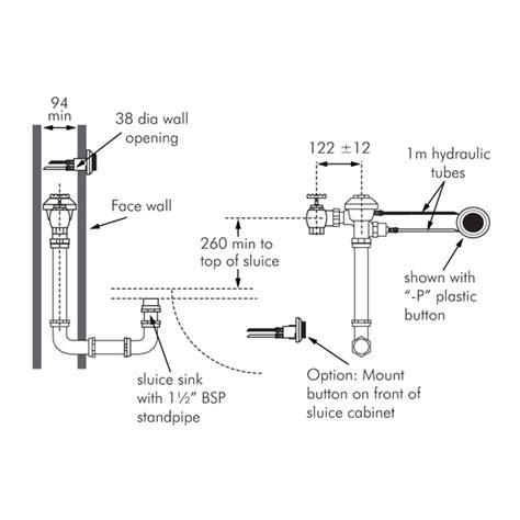 zurn recess mounted sluice sink flush valve  zealand