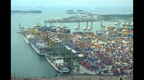 Port Of Singapore 5-6-12 (time Lapse)