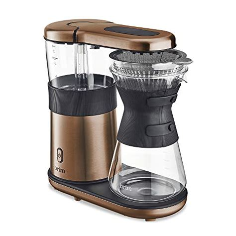 Due to the size/shipping restrictions, this product is not eligible for automatic online. Brim (50031) 8 Cup Pour Over Coffee Maker, Satin Copper » Best Rated Coffee Makers