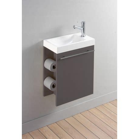 meuble lave mains taupe avec distributeur de papier toilette