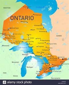 Application Couleurs Carte De L U0026 39 Ontario Province Banque D U0026 39 Images  Photo Stock  145480964