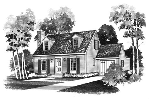 small colonial cape  house plans home design hw