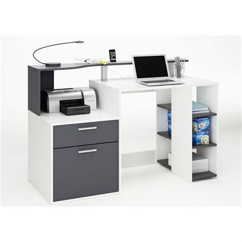 bureau vituel oracle bureau 140 cm blanc gris achat vente bureau