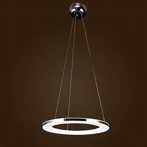 40/60/80CM Modern LED Acrylic Round Pendant Chandelier ...