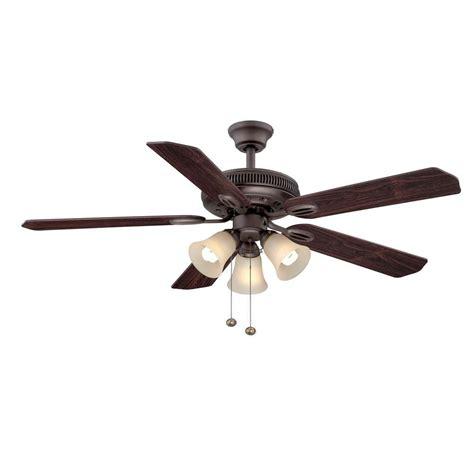 home depot ceiling fan blades hton bay glendale 52 quot ceiling fan oil rubbed bronze 5