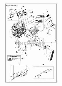 Husqvarna Parts On The Engine  U0026 Idler Diagram For Fs 520