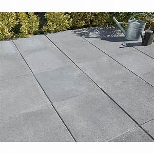 Dalles Beton Terrasse : dalle b ton proven ale gris fonc x cm x mm leroy merlin ~ Melissatoandfro.com Idées de Décoration