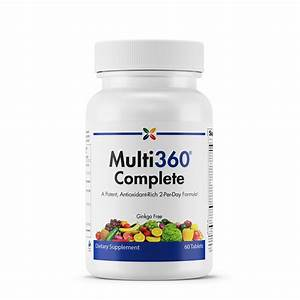Stop Aging Now - Multi360 Complete 2-per-day - A Potent  Antioxidant-rich 2-per-day Formula